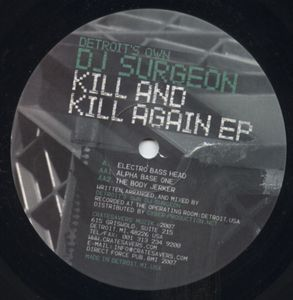 CS008 - CRATESAVERS MUZIK - DETROIT'S OWN DJ SURGEON - Kill And Kill Again EP