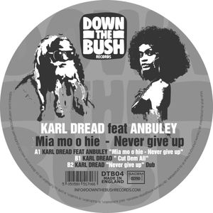 DTB-04 - DOWN THE BUSH Records - KARL DREAD - Never Give Up