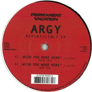 PERMVAC 083-1 - PERMANENT VACATION - ARGY - Reminiscence E.P.