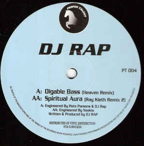 PT 004 - Proper Talent - DJ Rap - Digable Bass (Heaven Remix) / Spiritual Aura (Ray Keith Remix)