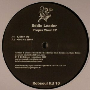 ROBSOUL LTD- 10 - ROBSOUL Recordings - EDDIE LEADER - Proper Wow EP