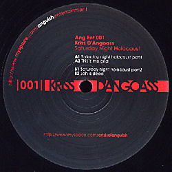 ANG ENT 001 - ANGUISH ENTERTAINMENT - KRISS D'ANGOASS - Saturday Night Holocaust