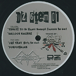 DZ 001 - DZ6TEM Records - DJ RESH.G - Tribute To Mr Haynes Mindnight Express Re édit / Balloon Machine