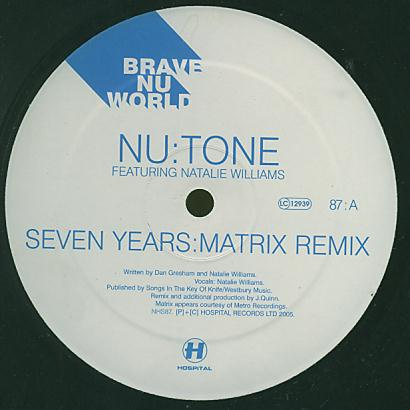 NHS 87 - HOSPITAL Records - NU:TONE - Seven Years (Matrix Remix)