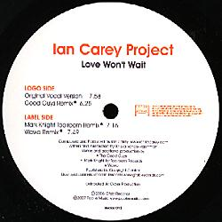 VECTOR 013 - VECTOR Records - IAN CAREY PROJECT - Love Won't Wait