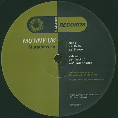 SUNI033EP - SUNFLOWER Records - MUTINY UK - Mutations E.P.